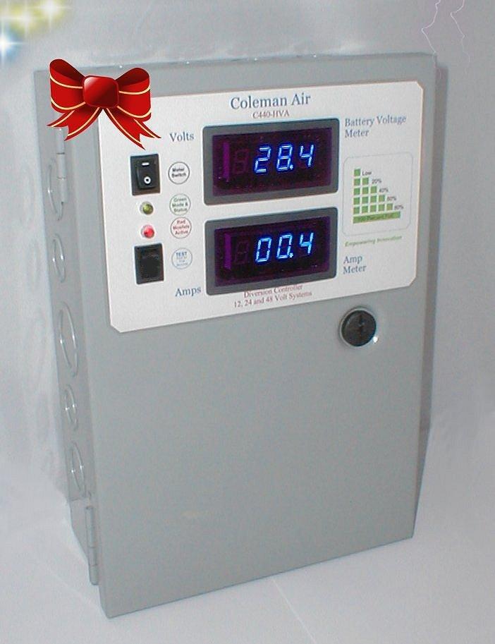 coleman air c440 hva 440 amp 12 24 48v volt wind solar batterycoleman air c440 hva 440 amp 12 24 48v volt wind solar battery charge controller